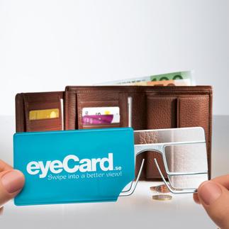 eyeCard®, 2er-Set Ihre handlichste Lupe – im Kreditkartenformat. Mit 2,5facher Vergrösserung. Und beide Hände frei.