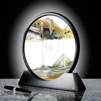 Zauberhaftes Sandbild Mit unendlich wandelbarem Strukturspiel. Ein Blickfang auf Ihrem Schreibtisch, im Wohn- oder Schlafraum.