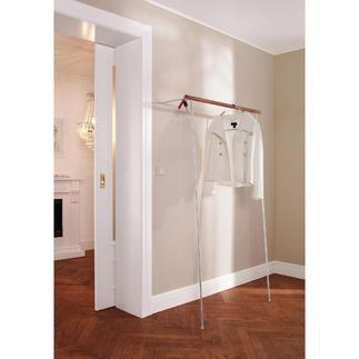 Garderobe zum Anlehnen Im Handumdrehen aufgestellt. Ohne Bohren, ohne Dübeln.
