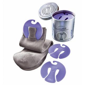 """Sockensammler """"sockstar®"""" Cleverer Sammler hält Socken in der Wäsche paarweise zusammen. Wahlweise mit frischem Lavendelduft."""