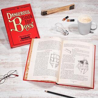 """""""Dangerous Book for Boys"""", deutsche Ausgabe Alle Geheimnisse für Vater und Sohn."""