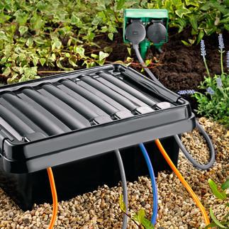 DRi®BOX Der sichere Outdoor-Platz für Ihre mobile Mehrfach-Steckdose. Wetterfest, staubdicht und strahlwassergeschützt.