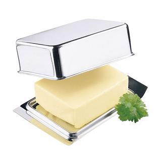 Edelstahl-Butterdose Diese Edelstahl-Butterdose passt exakt ins Butterfach Ihres Kühlschranks.