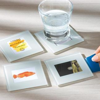 Vario Untersetzer, 12er-Set Zu jedem Anlass individuell dekoriert: mit Tisch- oder Menukarte, Fotos, Zeichnungen, witzigen Sprüchen, ...