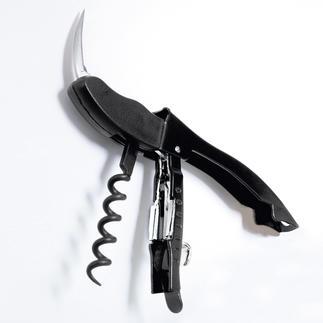 """Kellnermesser """"Coutale"""" Mit patentierter 2-stufiger Hebeltechnik. Kinderleicht drücken statt mühsam ziehen."""