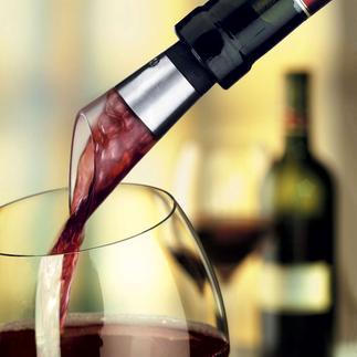 Venturi Dekantierausgiesser Sie belüften nur so viel Wein, wie Sie auch trinken.