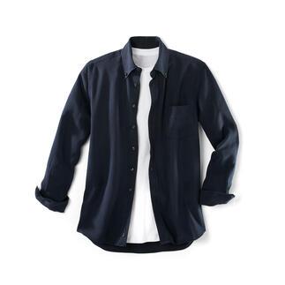 Das Hemd aus Tencel®-Denim: perfekt an heissen und an kalten Tagen. Viel weicher als Denim. Viel lässiger als eingewöhnliches Oberhemd.