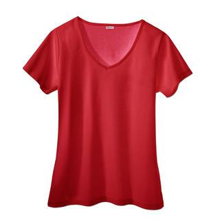 Das Sunselect®-Shirt: Sieht gut aus, fühlt sich gut an und wirkt wie eine gute Sonnencreme. Blockt den Grossteil der schädlichen UVB-Strahlen ab, lässt aber die bräunenden UVA-Strahlen durch.