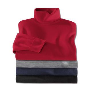 Der Rollkragen-Pullover aus feiner Merinowolle von John Smedley wiegt weniger als 300 Gramm. Aus seltenem 30-Gauge-Feinstrick.