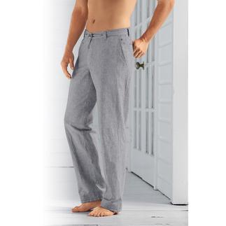 So stylish kann eine bequeme Sommerhose sein. In luftig-frischer Baumwoll-/ Leinenmischung. Lässiger Tragekomfort mit gepflegtem Aussehen. Bequemer Stretch-Bund mit praktischem Tunnelzug.