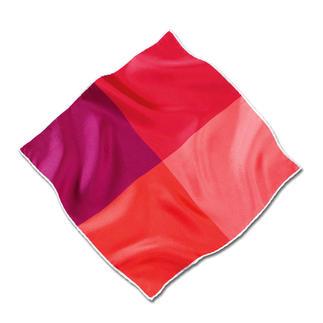 Das handrollierte Einstecktuch aus feinem Seidentwill: Geschmeidig und standfest. Besonders farbbrillant. Uni Weiss und abwechslungsreich 4-farbig Blau und Rot.