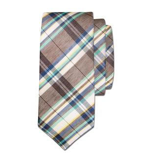 Die frische Leinen/Baumwoll-Krawatte - die perfekte Ergänzung zu leichten Sommer-Sakkos und -Anzügen. Farben wie Meer und Sand. Vielseitig kombinierbar.