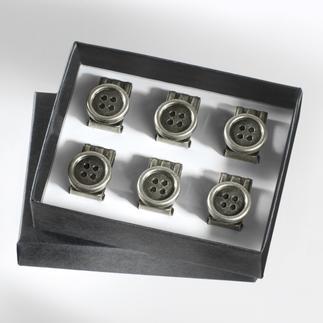 Die praktischen Knopf-Clips für Ihre Hosenträger. Einfach an jeder Hose zu befestigen.