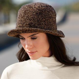 Die eleganten Hut-Klassiker mit dem Wetterschutz von heute. Von Mayser. Winddicht. Wasserdicht. Atmungsaktiv. Für Damen: Strickhut in Melange.