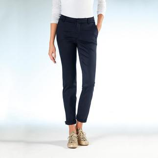 Die Cotton-Line-Chino: Perfekte Passform. Seidig weiche Tencel®/Baumwoll-Mischung. Der Schnitt ist genau die richtige Mischung aus leger-bequem und figurbetont-feminin.