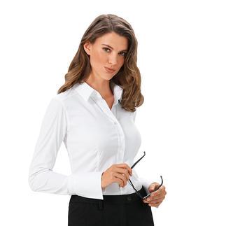 Die van Laack Basic-Bluse mit 3 verschiedenen Cup-Grössen: Perfekter Sitz an Brust und Taille. Der Blusenspezialist kombiniert die Weite im Brustbereich mit den normalen Konfektionsgrössen.