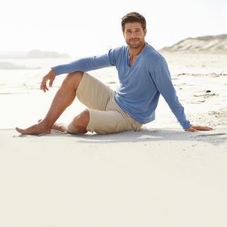 Der Feinstrick-Pullover aus Leinen und Baumwolle: So stilvoll kann ein Casual-Look sein. Lässig-bequemer Style vom Shirt-Spezialisten Ragman.