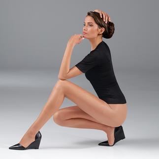 Wie zartes Make-up für Ihre Beine: Licht reflektierendes Garn glättet das Hautbild optisch. 16 Denier fein - perfekt für die warme Jahreszeit.