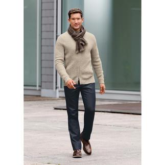 Veste en tricot baby alpaga Doux comme du cachemire, mais assez robuste pour la vie quotidienne.