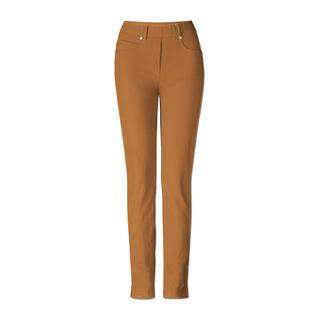 Diese Jeggings ist knackig wie eine Jeans. Bequem wie Leggings. Und hat eine perfekte Passform. Der softe Baumwoll-Jersey in Ripsoptik ist längs- und querelastisch.