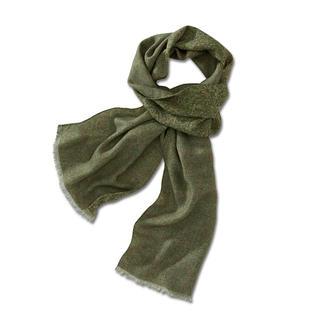 Der seltene Doubleprint-Schal: Auf beiden Seiten schön. Und unglaublich wandlungsfähig. Elegantes, orientalisches Paisley-Dessin. Oder klassisch-sportliches Glencheck-Karo.
