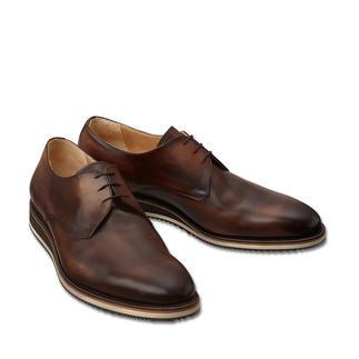 Der zeitgemässe Derby mit Sneaker-Sohle: Korrekt wie ein Business-Schuh. Aber bequemer und moderner. Traditionell rahmengenäht nach dem Goodyear-Verfahren. Von Cordwainer/Spanien.