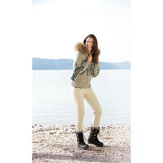 Die Steghose von Goldbergh: Stylische Sportswear und sportliche Streetwear. Aus Soft-Shell.