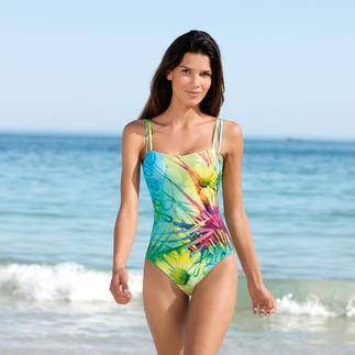 Dieser Badeanzug wirkt wie eine gute Sonnencreme. Aus SunSelect® – mit aussergewöhnlichem Blumen-Motiv. Der spezielle SunSelect®-Jersey lässt die zur sanften Bräunung notwendigen UV-Strahlen durch.