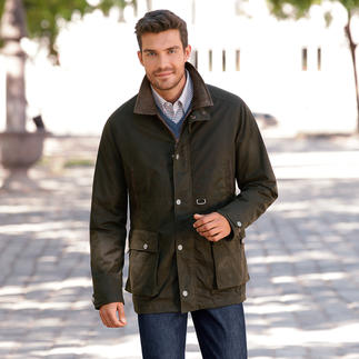 Der Cotton-Wax-Parka: typischer Charakter einer Wachsjacke mit allen Vorzügen moderner Funktionsbekleidung. Wind- und wasserdicht. Wärmend. Atmungsaktiv.