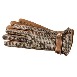 Der Luxus-Handschuh aus original Harris Tweed und seltenem Hirschleder. Viel softer, leichter und doch reissfester als Rindleder. Traumhaft weich gefüttert mit feinstem Kaschmir.