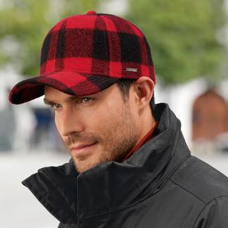 Die Cap mit dem berühmten Holzfäller-Karo von Woolrich. Aus wärmender, wasserabweisender Wolle made in USA von Stetson.