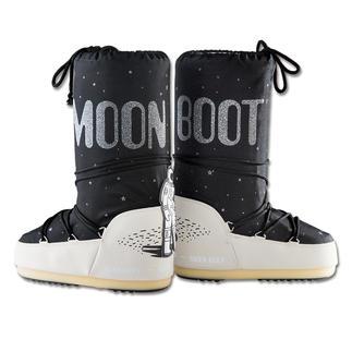 """Die Moon Boot®-Special Edition """"Space"""" zum 45. Jubiläum der ersten Mondlandung. Unverwechselbare Form. Kultiger Print. Federleicht. Halten Füsse in jeder Situation trocken und warm."""