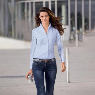 Die elegante Kelchkragen-Bluse. Zeitlos-elegant und seit Jahren ein Bestseller bei van Laack Perfekt zu kragenlosen Couture-Jäckchen, zu Blazern mit sportlichem Steh- oder klassischem Reverskragen.