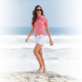 Das charmante Polo-Shirt des Südtiroler Lifestyle-Labels Luis Trenker. Femininer und modischer als all die sportlichen Pikee-Polos.