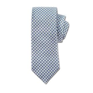 Die Seiden-Baumwoll-Krawatte in Leinwandbindung. Lässiger als reine Seide. Eleganter als Leinen und Baumwolle. Sommerlich hell – perfekt zu leichten Leinen-Blazern und Baumwoll-Anzügen.