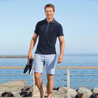 Das flauschig weiche Polo-Shirt aus Frottee. Von van Laack, Hemdenspezialist seit 1881. Genau richtig für die nächste Seereise, den Strandurlaub, Stadtbummel an heissen Tagen,…