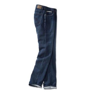 Die bequeme Jersey-Jeans mit echter Indigofärbung für den authentischen Denim-Look. Optik einer klassischen Jeans. Und die Bequemlichkeit einer Jogginghose.