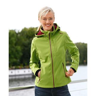 Die Soft Shell-Jacke mit WindProtect®. Schlank, leicht und trotzdem warm.