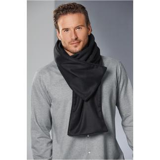 Der knöpfbare Doubleface-Schal von les D'Arcs. Elegant zu drapieren, sicher zu fixieren
