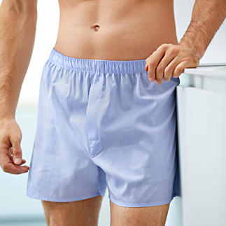 """Die Boxershorts von Sunspel - seit 1947 komfortabel, langlebig und aus feinster Baumwolle gewebt. Mit dem typischen """"panel seat"""" für optimalen Sitz ohne """"Kneifen"""" und ohne unangenehme Nahtstellen."""
