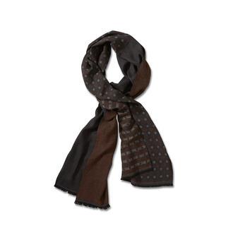 Der Doubleface-Schal mit Muster-Mix: aussergewöhnlich dezent, stilvoll und vielseitig kombinierbar. Fein, leicht und nicht zu voluminös.
