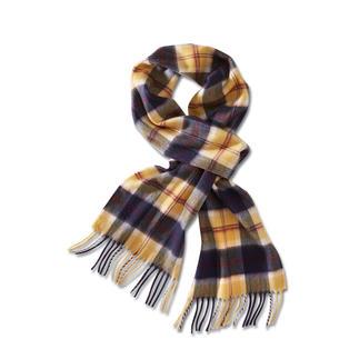 Der Schal mit einem Original-Dessin aus dem Archiv eines der ältesten Tartanweber. Lochcarron of Scotland, seit 1892.