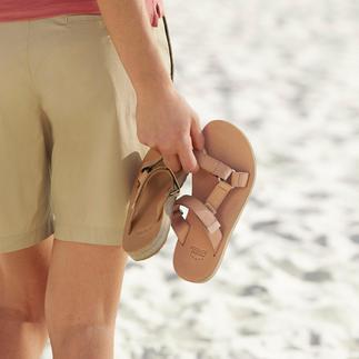 Die Teva®-Outdoor-Flats: Vom Trecking-Schuh zum edlen Fashion-Flat aus Leder. Tragen Sie das Original mit Fusskomfort.