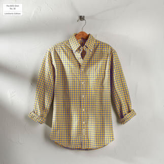 Das karierte BDO-Shirt No. 38 - aus luftig feinem Oxfordgewebe. Limitierte Edition. Bequem grosszügig gefertigt - nichts engt Sie ein.