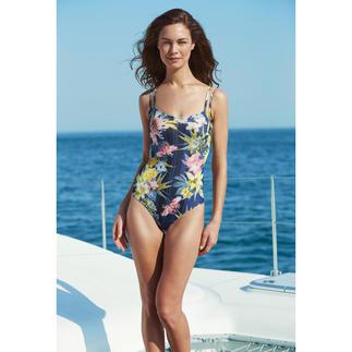Dieser Badeanzug wirkt wie eine gute Sonnencreme. Aus sonnendurchlässigem SunSelect® – mit aussergewöhnlichen Blumen-Aquarellen.
