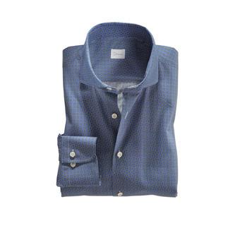 Das zeitgemäss dezente Grafikhemd: wenn Retro-Look, dann stilvoll. Modisch. Elegant. Und sogar Anzug-kompatibel. Von Hemdenspezialist Dorani.