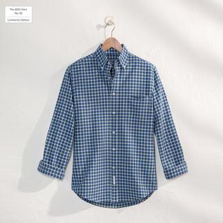 Das karierte BDO-Shirt No. 40 - aus luftig feinem Oxford-Gewebe. Limitierte Edition. Bequem grosszügig gefertigt.