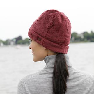 Die Königsklasse unter den Fleecestoffen: die Mütze aus Polartec® High Loft™. Viel wärmer und leichter als herkömmliche Fleece-Mützen. Von Aigle, Frankreich.