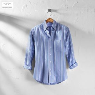 Das gestreifte BDO-Shirt No. 39 - aus luftig feinem Oxfordgewebe. Limitierte Edition. Bequem grosszügig gefertigt - nichts engt Sie ein.
