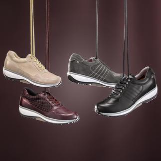 Der wohl komfortabelste unter den modischen Sneakern. Perfekte Kombination aus Xsensible Inside® Stretchleder und Balance-Sohle.